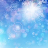 Christmas background - sunny day. EPS 10. Christmas or New Year background - sunny day. EPS 10 vector file included Stock Photography