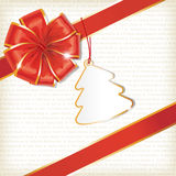 Christmas Background with Tag Royalty Free Stock Photography