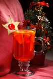 Christmas Background Tea Time. Selective focus. Stock Photo