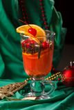 Christmas Background Tea Time. Selective focus. Royalty Free Stock Image