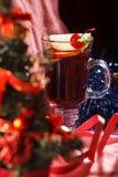 Christmas Background Tea Time. Selective focus. Royalty Free Stock Photos