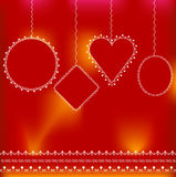 Christmas background template. Balls white in red background royalty free illustration