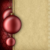 Christmas background template - baubles and blank space for text Royalty Free Stock Photography