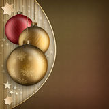 Christmas background template - baubles and stars royalty free illustration