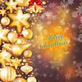Christmas background template. EPS 10. Vector file included Royalty Free Stock Photography