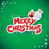 Christmas background with text and bauble Stock Image
