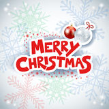 Christmas background with text and baubles Stock Image