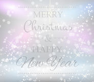 Christmas background with text Stock Photography