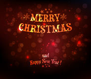 Christmas background with text Stock Photo