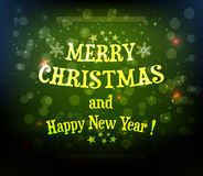 Christmas background with text Stock Image