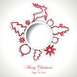 Christmas background with text place Royalty Free Stock Images