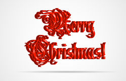 Christmas background. With text. Vector illustration Royalty Free Stock Image