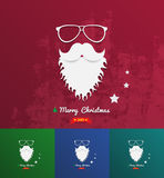 Christmas background texture with santa face Royalty Free Stock Image