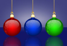 Christmas background. With three balls royalty free illustration
