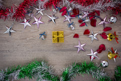 Christmas background, top view stock image
