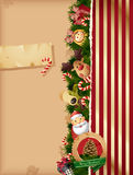Christmas background- tors and old paper. Christmas - toys background and old paper Stock Photos