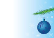 Christmas background. With a toy Royalty Free Stock Image