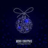 Christmas background with toy. Christmas background for your design stock illustration