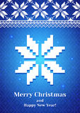 Christmas Background with traditional norwegian pattern Stock Images