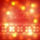 Christmas Background with traditional norwegian pattern Stock Image