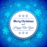 Christmas Background with traditional norwegian pattern Royalty Free Stock Photography