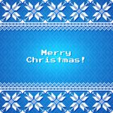 Christmas Background with traditional norwegian pattern Stock Photo