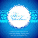Christmas Background with traditional norwegian pattern Stock Photography