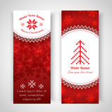 Christmas Background with traditional norwegian pattern Stock Photos
