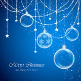 Christmas background with transparent balls Royalty Free Stock Image