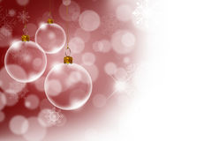 Christmas background with Transparent Christmas Royalty Free Stock Photo