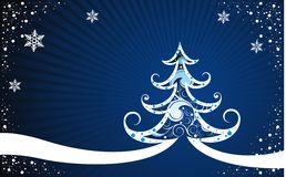 Christmas background with tree Stock Photography