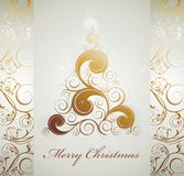 Christmas background with tree Royalty Free Stock Photo