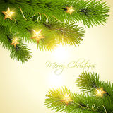Christmas background tree Stock Images