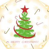 Christmas background with tree Royalty Free Stock Image