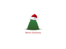 Christmas background. With Christmas tree Stock Photography