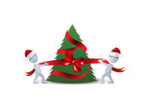 Christmas background. With Christmas tree Stock Photos