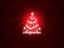 Christmas background. With Christmas tree Stock Images