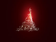 Christmas background. With Christmas tree Stock Photo