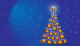 Christmas Background. With Christmas tree Royalty Free Stock Images