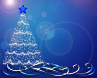 Christmas background tree blue Royalty Free Stock Photography