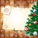 Christmas background with tree and copy space Royalty Free Stock Image