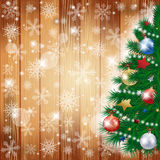 Christmas background with tree and copy space Stock Photography