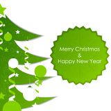 Christmas background with tree and decoration on a white background Royalty Free Stock Photos