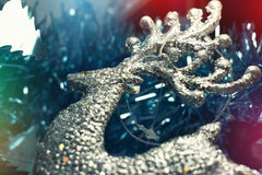 Christmas Background with tree decorations. Christmas card Royalty Free Stock Photography