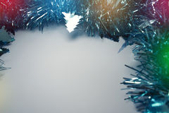 Christmas Background with tree decorations. Christmas card Stock Photo