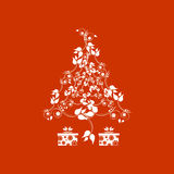 Christmas background. With christmas tree floral stock illustration