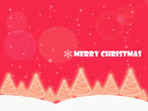 Christmas background tree garden Royalty Free Stock Images