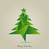 Christmas. Background with Christmas tree - green Stock Image