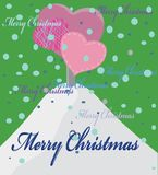 Christmas background with tree from hearts Royalty Free Stock Photo