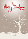 Christmas  background with tree Stock Photos